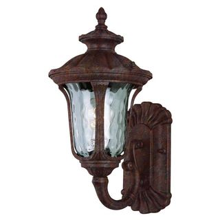 Cambridge Rust Finish Outdoor Wall Sconce with Water Shade