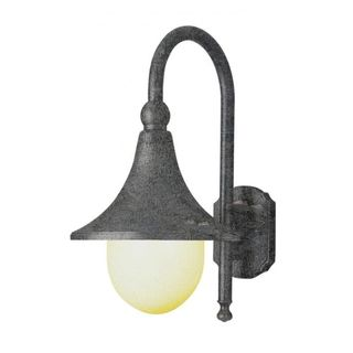 Cambridge Swedish Iron Finish Outdoor Wall Sconce with an Opal Shade