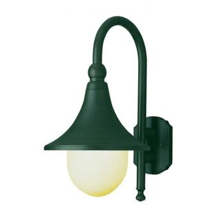 Cambridge Verde Green Finish Outdoor Wall Sconce with an Opal Shade