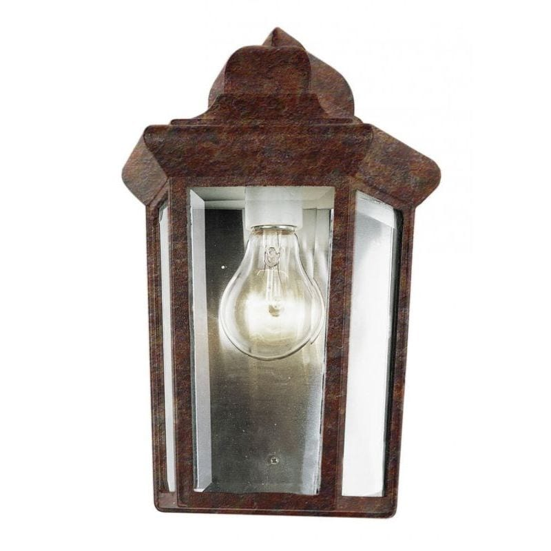 Trans Globe Cambridge Rust Finish Outdoor Wall Sconce wit...