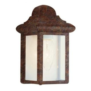 Cambridge Rust Finish Outdoor Wall Sconce with Clear Shade
