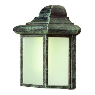 Cambridge Verde Green Finish Outdoor Wall Sconce with Clear Shade