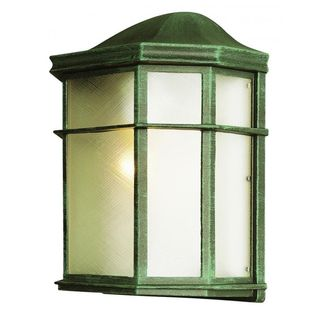 Cambridge Verde Green Finish Outdoor Wall Sconce with Frosted Shade
