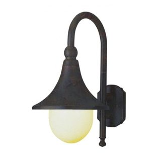 Cambridge Black Copper Finish Outdoor Wall Sconce with an Opal Shade