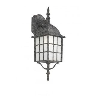 Cambridge Swedish Iron Finish Outdoor Wall Lantern with Frosted Shade