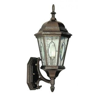 Cambridge Brown Finish Outdoor Wall Lantern with Water Shade