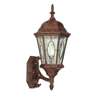 Cambridge Rust Finish Outdoor Wall Lantern with Water Shade