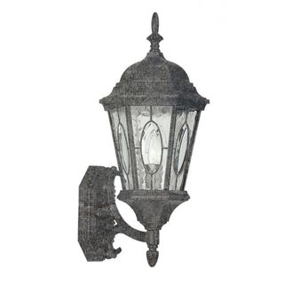 Cambridge Swedish Iron Finish Outdoor Wall Lantern with Water Shade