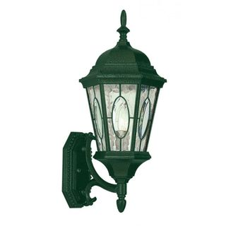 Cambridge Verde Green Finish Outdoor Wall Lantern with Water Shade