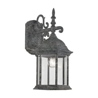 Cambridge Swedish Iron Finish Outdoor Wall Sconce with Beveled Shade