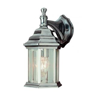 Cambridge Swedish Iron Finish Outdoor Wall Lantern with Beveled Shade