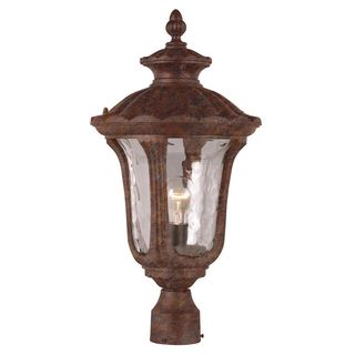 Cambridge Rust Finish Outdoor Post Head with Water Shade