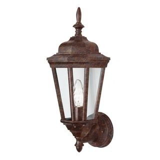 Cambridge Rust Finish Outdoor Wall Lantern with Clear Shade