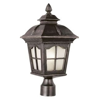 Cambridge Antique Rust Finish Outdoor Post Head with Water Shade