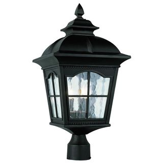 Cambridge Black Finish Outdoor Post Head with Water Shade