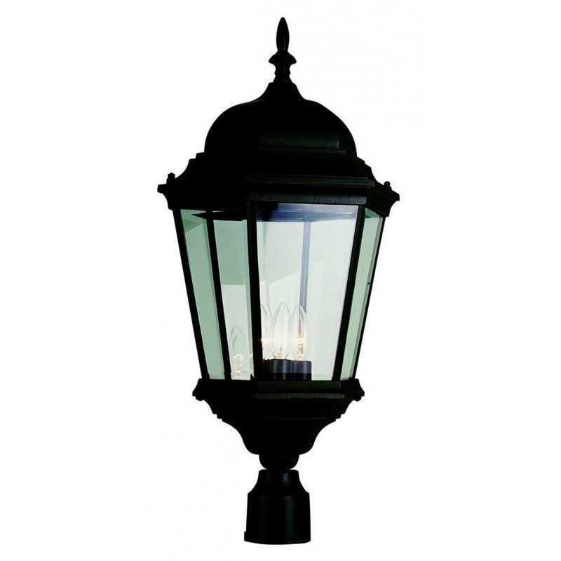 Trans Globe Cambridge Black Finish Outdoor Post Head with...