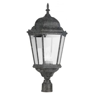 Cambridge Swedish Iron Finish Outdoor Post Head with Beveled Shade