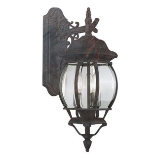 Cambridge Black Copper Finish Outdoor 3-light Wall Lantern with Beveled Shade