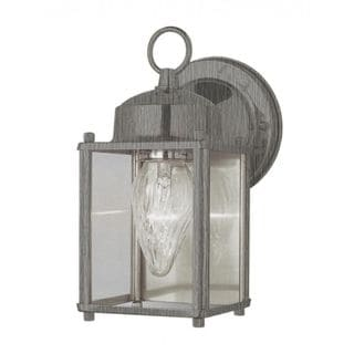 Cambridge Brushed Nickel Finish Outdoor Wall Sconce with Clear Shade