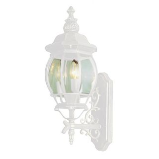 Cambridge White Outdoor Wall Lantern with Beveled Shade