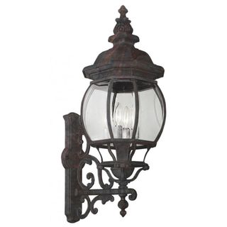 Cambridge Black Copper Outdoor Wall Lantern with Beveled Shade