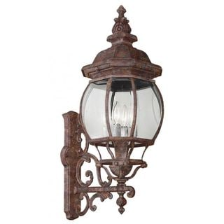 Cambridge Rust Outdoor Wall Lantern with Beveled Shade