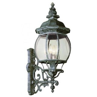Cambridge Verde Green Outdoor Wall Lantern with Beveled Shade