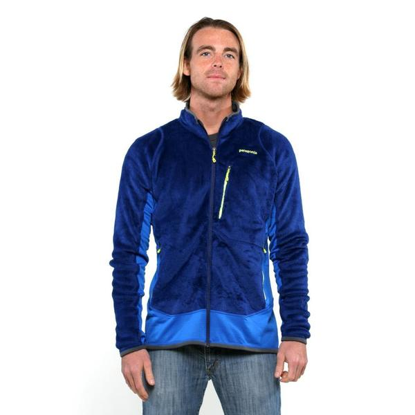 Patagonia Men's Channel Blue R2 Fleece Jacket - Free Shipping ...