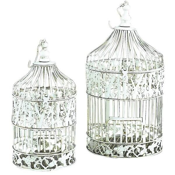 Metal Silver Decorative Bird Cage