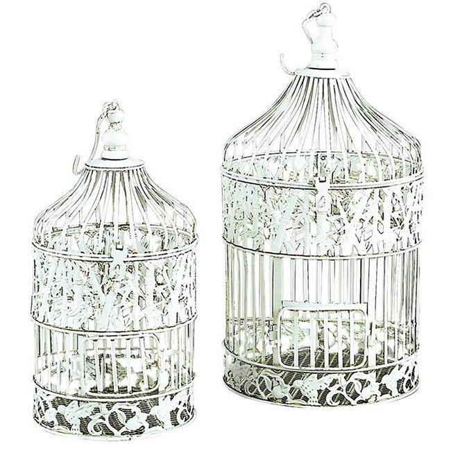 Benzara Metal Silver Decorative Bird Cage (82677)