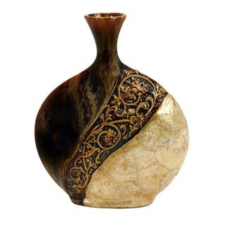Ceramic Decorative 17-inch Shell Vase