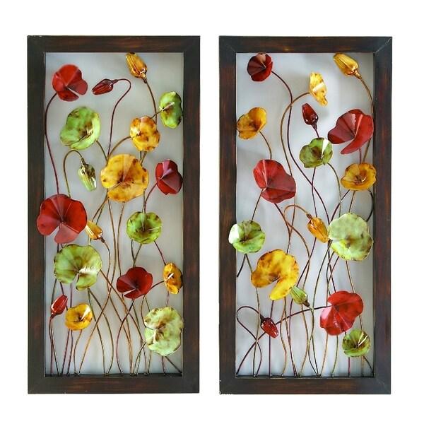 Shop Metal Brown Decorative Wall Plaque - Multi-color - Free ...