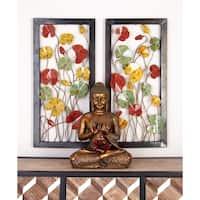 Metal Brown Decorative Wall Plaque