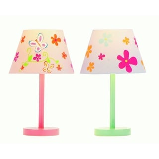 Wood Decorative Butterfly And Flower Accent Lamp