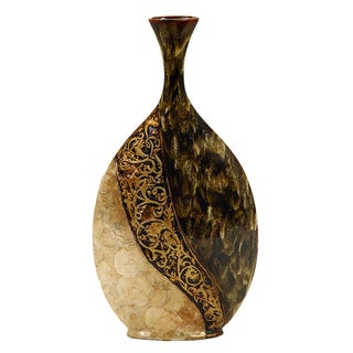 Ceramic Decorative 28-inch Shell Vase