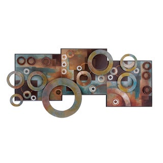 Metal Brown Varnished Wall Decoration