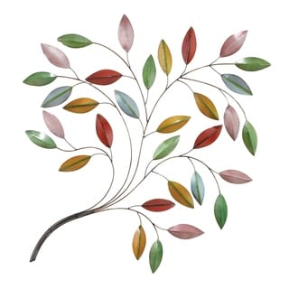 Metal Brown Decorative Leaf Wall Decoration - Thumbnail 0