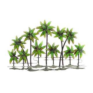 Metal Green Decorative Palm Island Wall Decoration