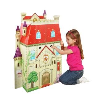 Teamson Kids - Fancy Castle Doll House (w/ 5pcs furniture)