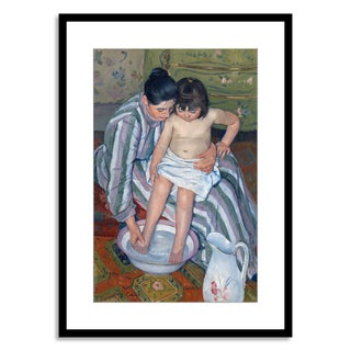 Gallery Direct Mary Cassatt 'Child's bath, 1893' Framed Paper Art