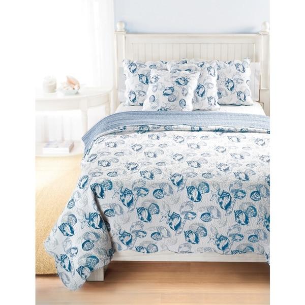 Greenland Home Fashions Carmel Coastal 3-piece Cotton Quilt Set