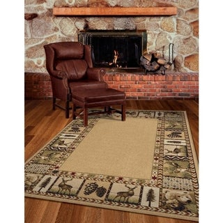 "Cherokee Collection Big Spring Beige Area Rug (5'3"" x 7'6"")"