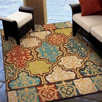 Carolina Weavers Indoor/Outdoor Santa Barbara Collection Yancey Multi Area Rug - 7'8 x 10'10