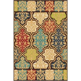 Carolina Weavers Indoor/Outdoor Santa Barbara Collection Yancey Multi Area Rug (7'8 x 10'10)