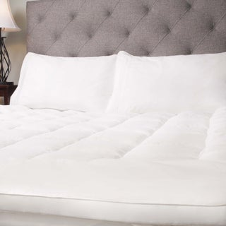 Baffle Stitched Hypo-allergenic Down Alternative Mattress Topper - White (3 options available)