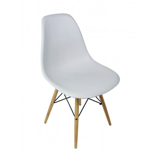 Light Gray Eiffel Style Plastic Dining Shell Chair. Opens flyout.