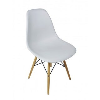 Light Gray Eiffel Style Plastic Dining Shell Chair
