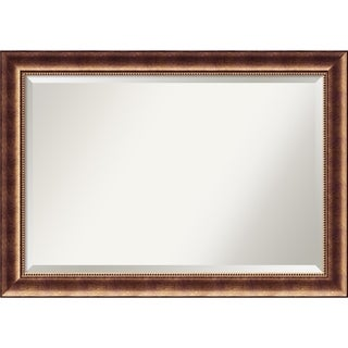 Wall Mirror Extra Large, Manhattan Bronze 42 x 30-inch - Red - extra large - 42 x 30-inch