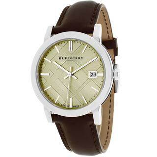 Burberry Men's BU9011 The City Round Brown Leather Strap Watch|https://ak1.ostkcdn.com/images/products/10029544/P17174991.jpg?impolicy=medium