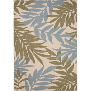Jaipur Living Indoor-Outdoor Bloom Green/Blue Floral Rug (2' x 3'7)